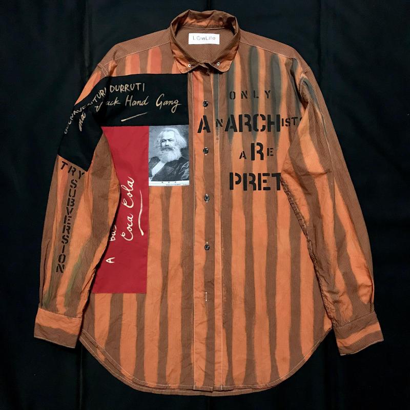 Newアナーキーシャツ メンズXL  オレンジ