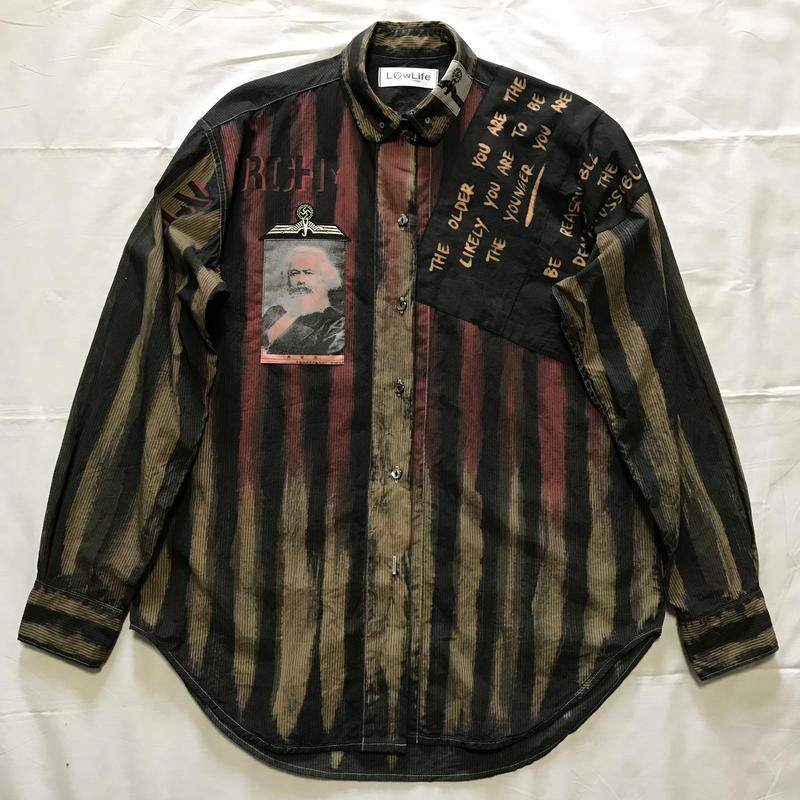 Newアナーキーシャツ メンズL  ダークジョニー 030