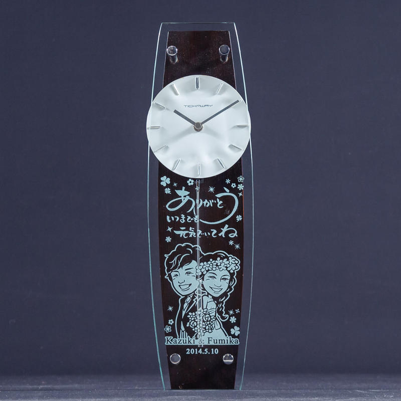 誓いの時計・書家文字入り(ダーク)