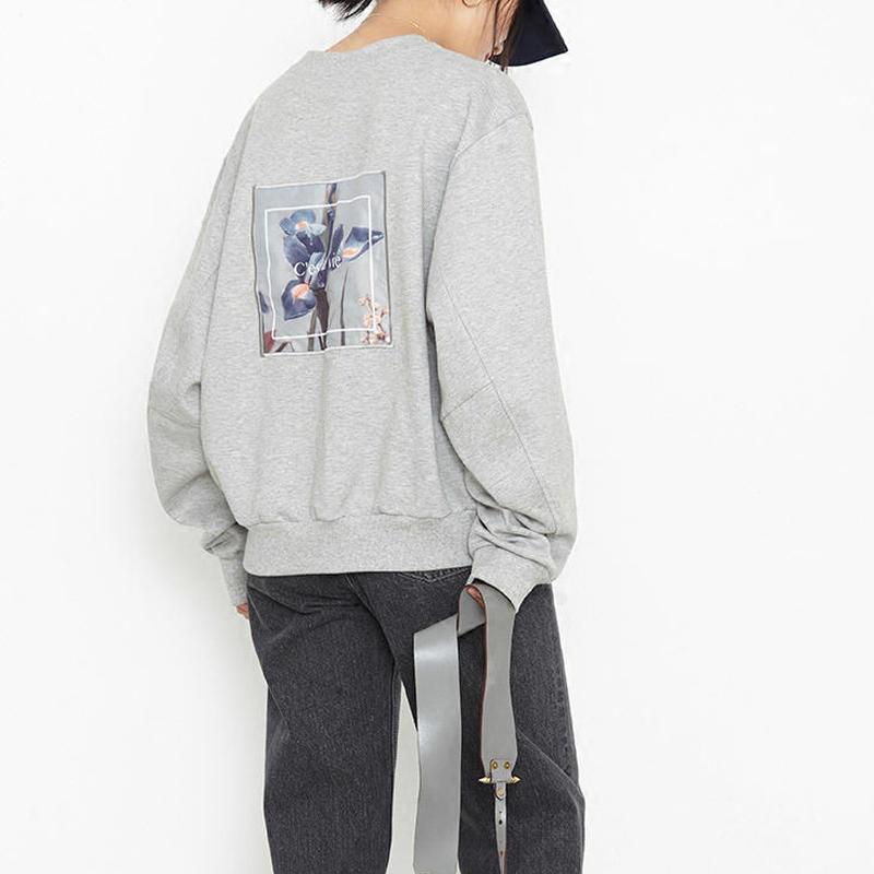 back print sweatshirt/バックプリント スウェット