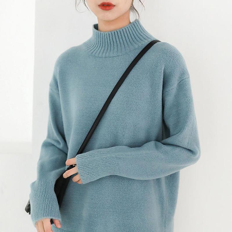 3color bottle neck knit sweater/3カラー ボトルネック ニットセーター
