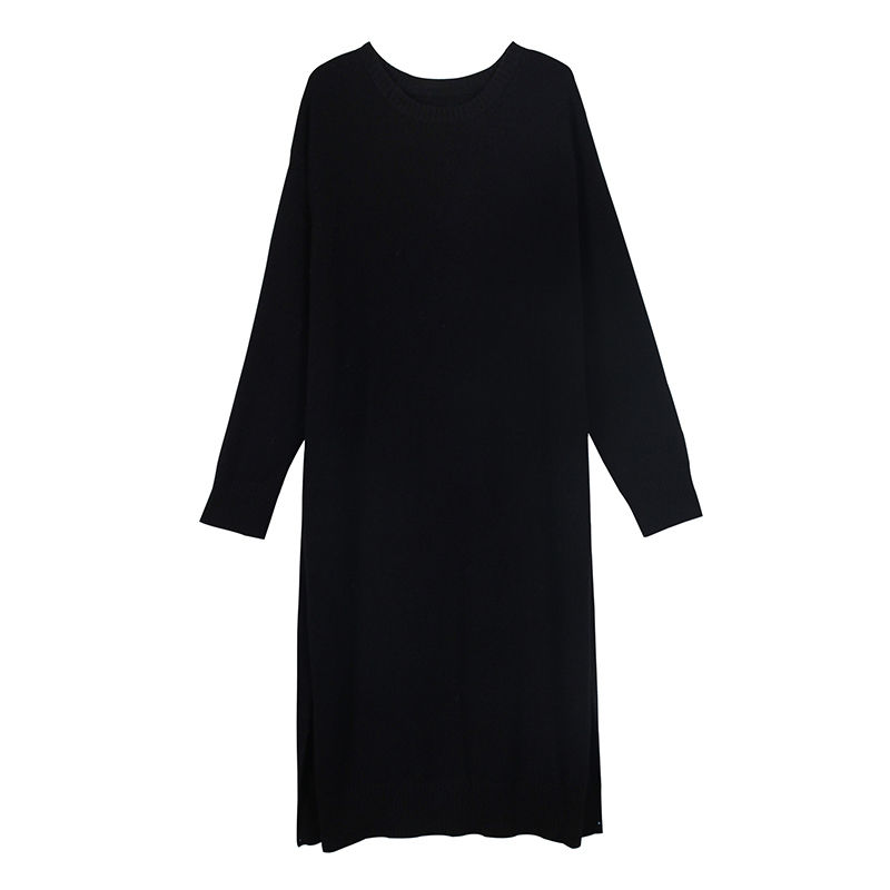 2color slit knit dress/2カラー スリット ニットワンピース