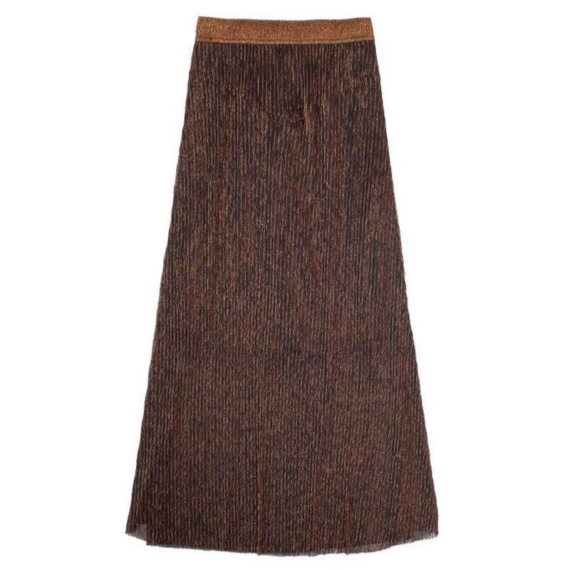 glitter see-through brown skirt/グリッター シースルー ブラウン スカート