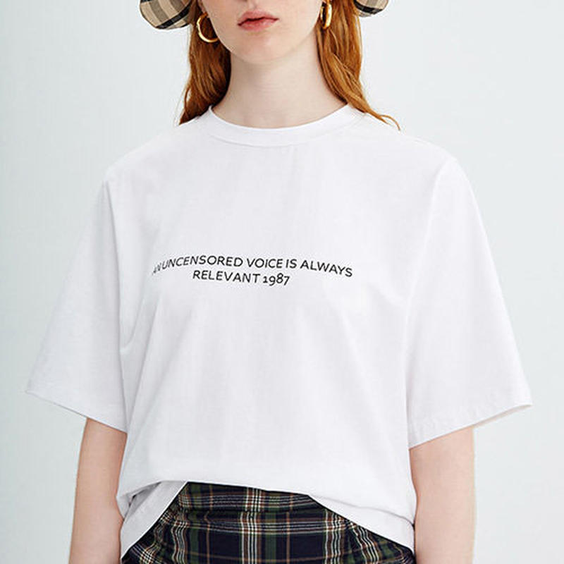 letter tee/レター Tシャツ