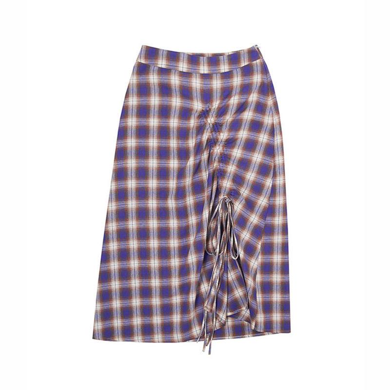 purple plaid skirt/パープル  チェック柄 スカート