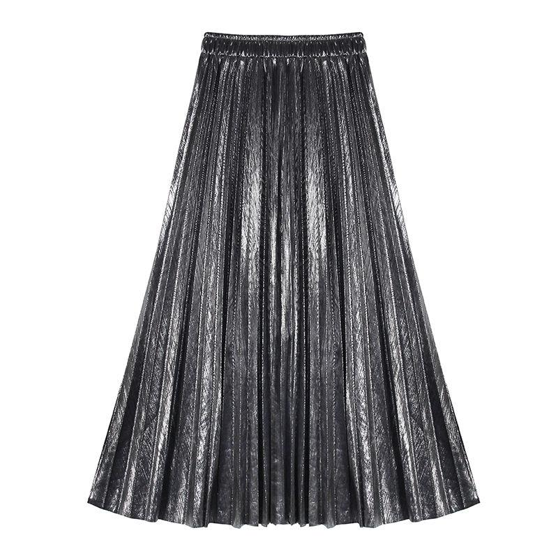 silver pleats skirt/シルバー プリーツ スカート