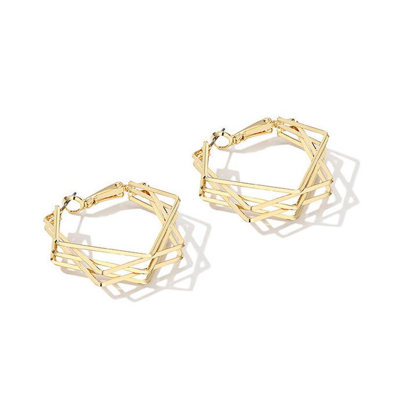 heptagon hoop earrings/ヘプタゴン フープ ピアス