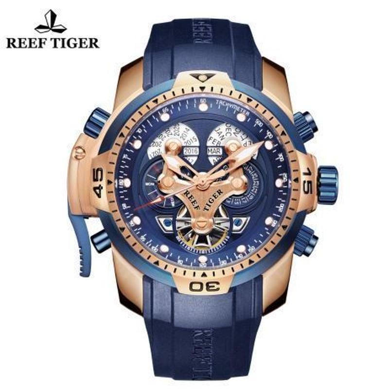 時計 ミリタリーウォッチ REEF TIGER メンズ 機械式 pllg