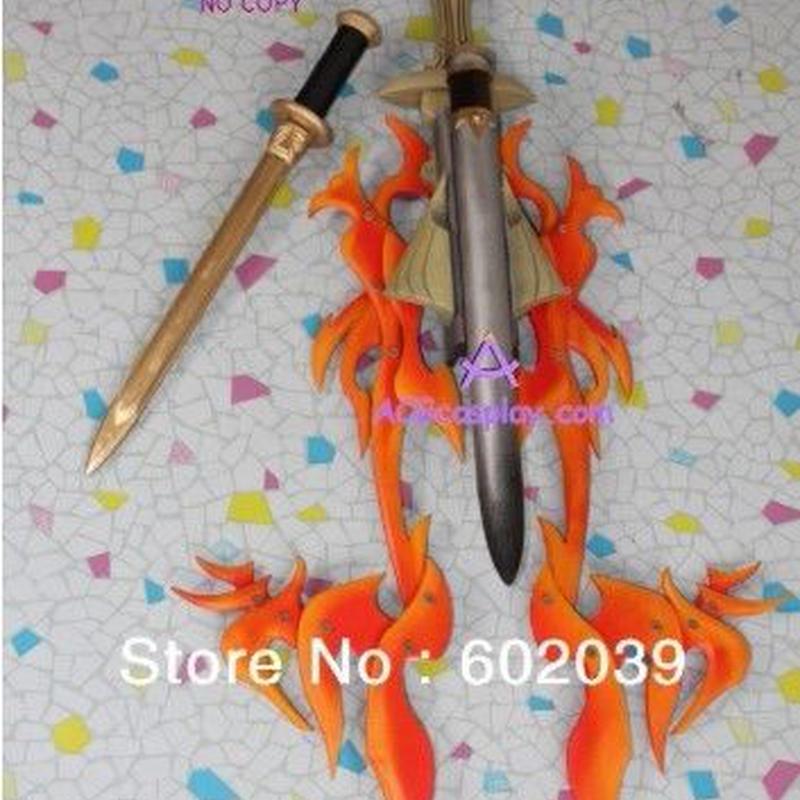 模造刀 輸入 レプリカ 塩ビ製レッドフレイムソード  110cm 赤い炎  コスプレ