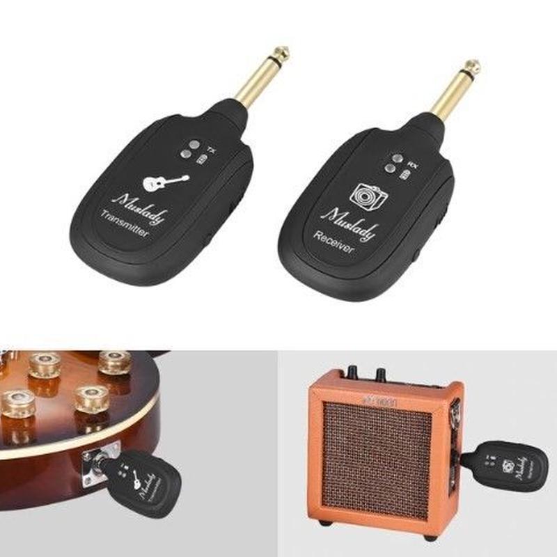 トランスミッター エレキギター UHF ベース ワイヤレス レシーバー