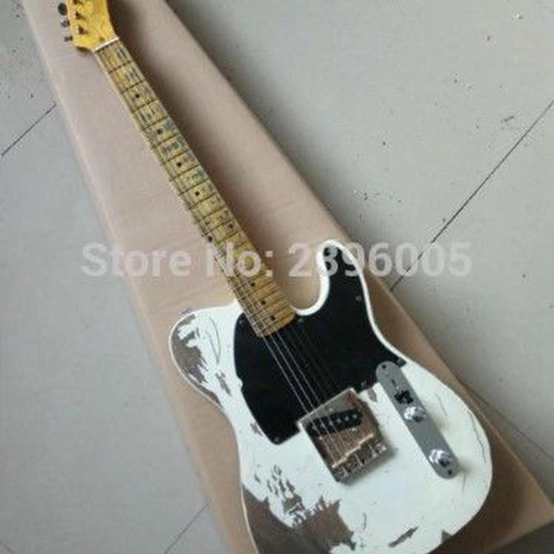テレキャス 白黒 ロック ジェフベック レプリカ エクスワイア バンド 1954 ヤードバーズ  エレキギター