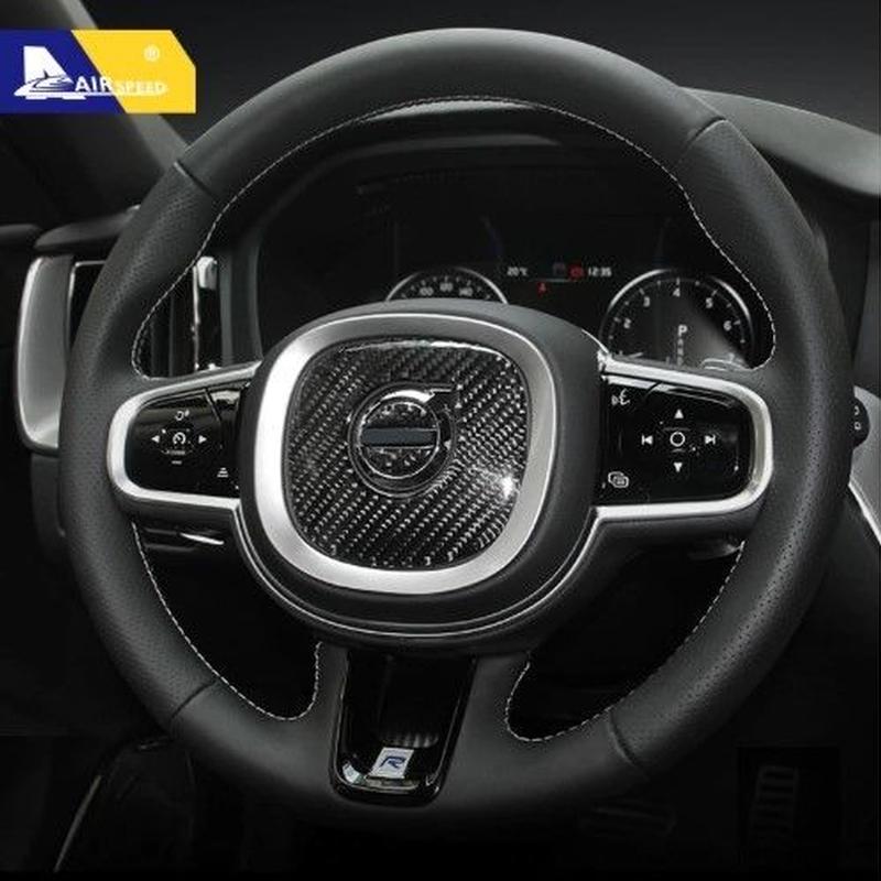 ボルボ カーボン ステッカー ステアリング ホーン v90 s90 xc90 xc60(2018)