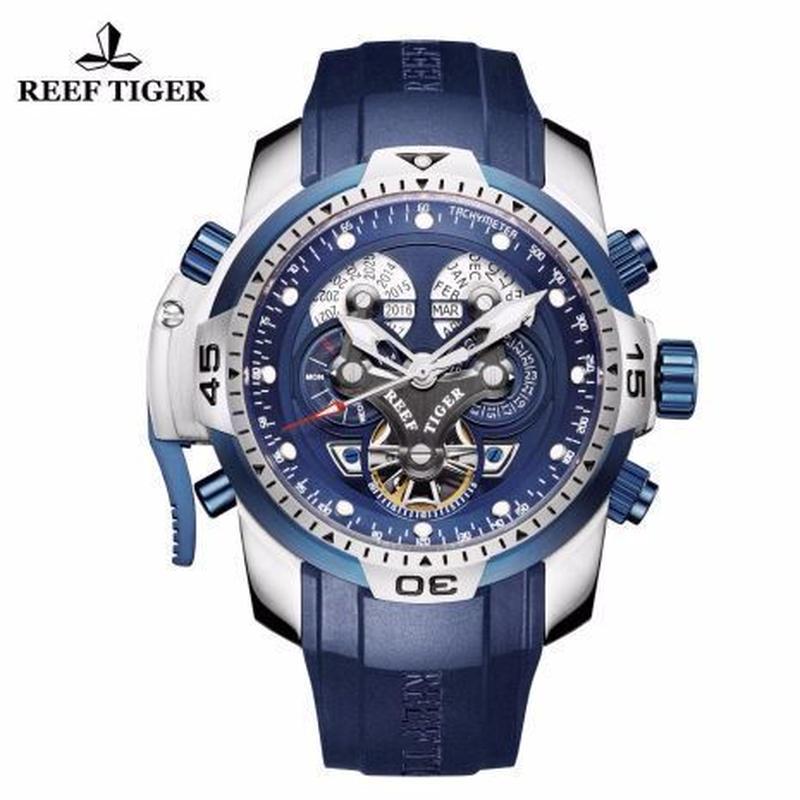 時計 ミリタリーウォッチ REEF TIGER メンズ 機械式 yllb
