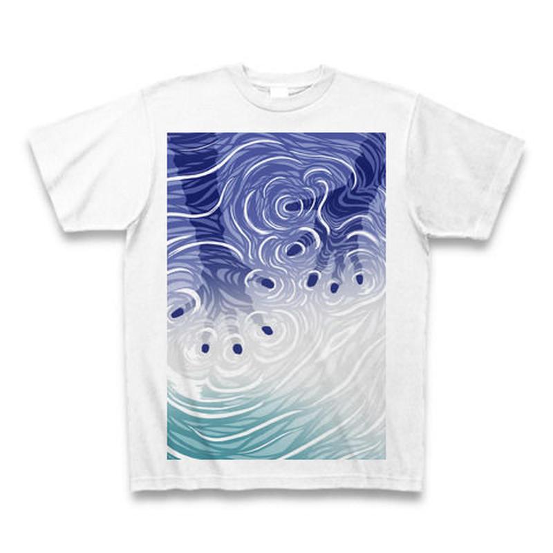 Ripple-hands(ラベンダー)Tシャツ白