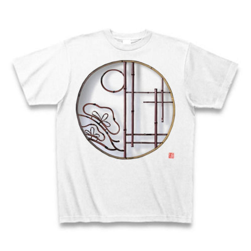 Tシャツ・丸窓(松)ホワイト