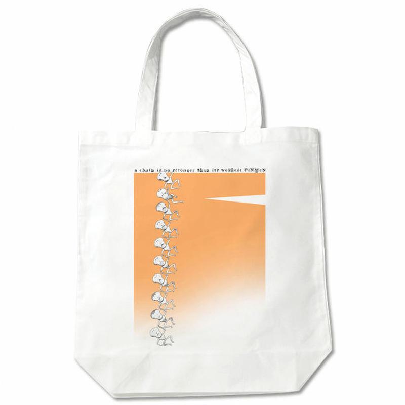 布バッグ PiNMeN(チェイン) トートバッグ オレンジ