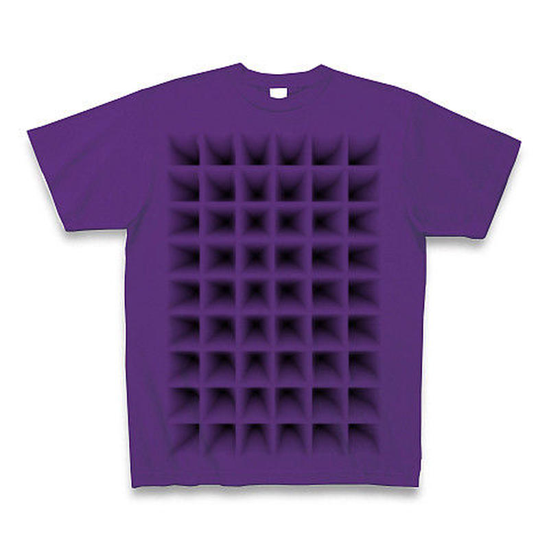 Perspective(grid)Tシャツ パープル
