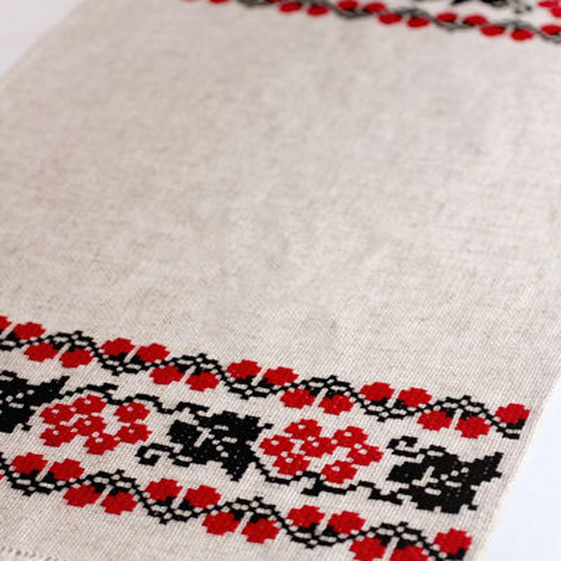 【ウクライナ雑貨】ウクライナ刺繍 リネンクロス (ベリー柄) EP2