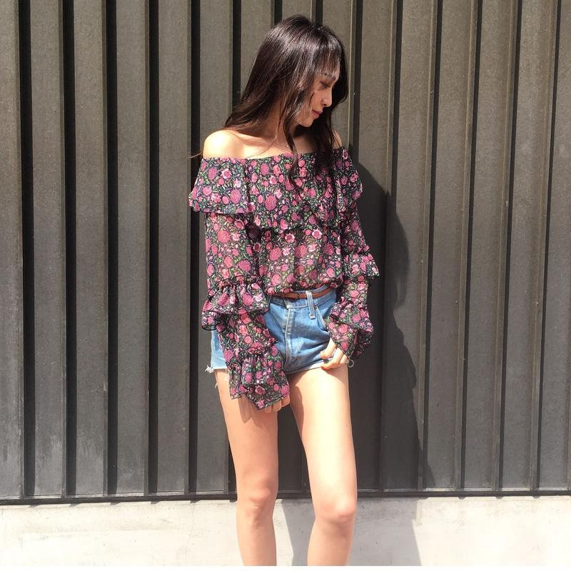 2way off-shoulder Chiffon