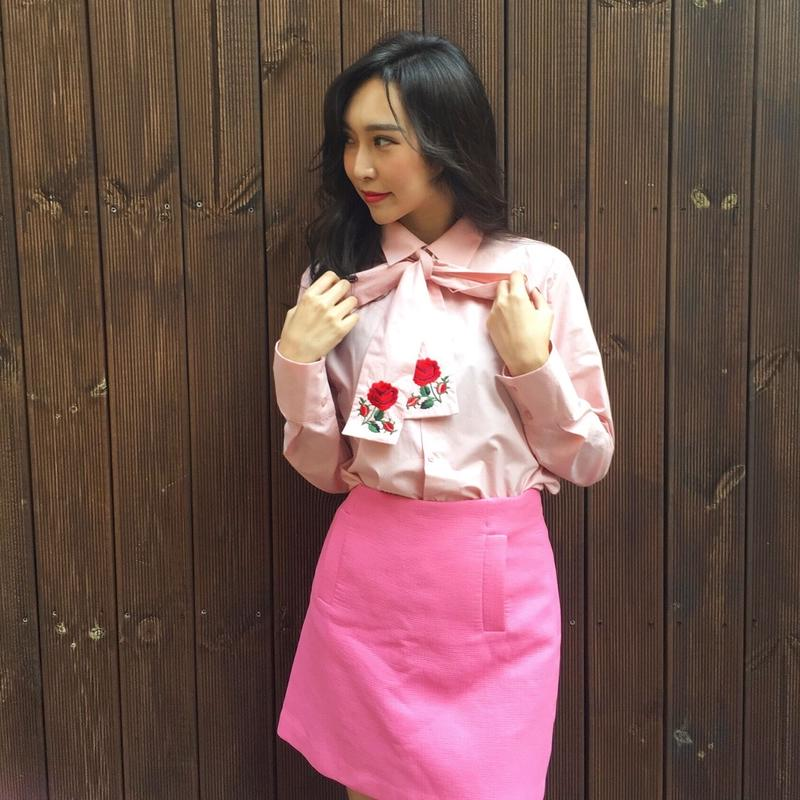 2way Rose Shirt PINK