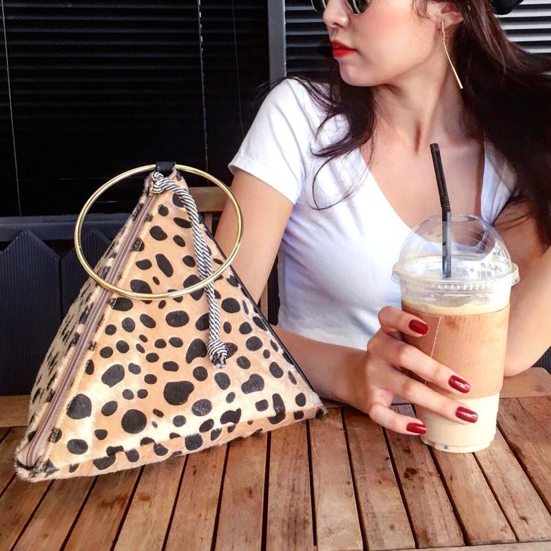 Triangle Leopard Bag