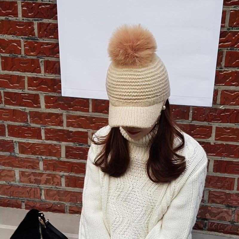 knit cap / ivory
