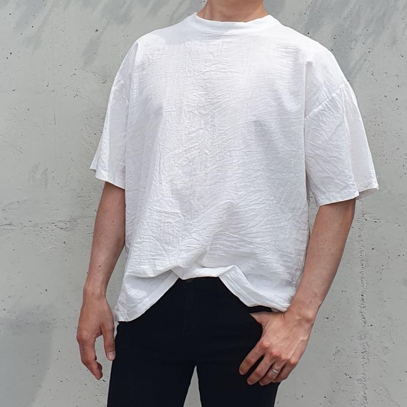 オーバーフィットリネンTシャツ