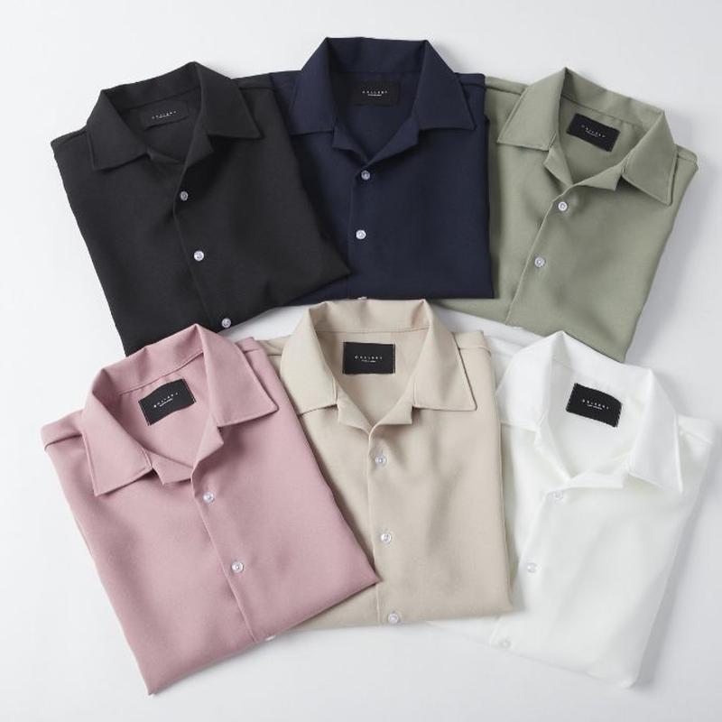 開襟シャツ/全6色