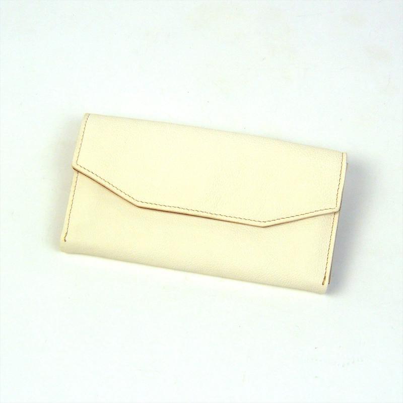 ANNAK ホワイトタンニンレザー×ヌメ 配色ギャルソン財布 AK17TA-B0057