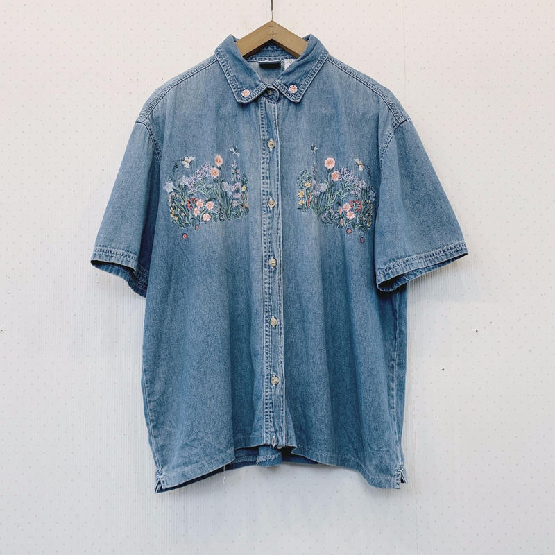 used denim blouse