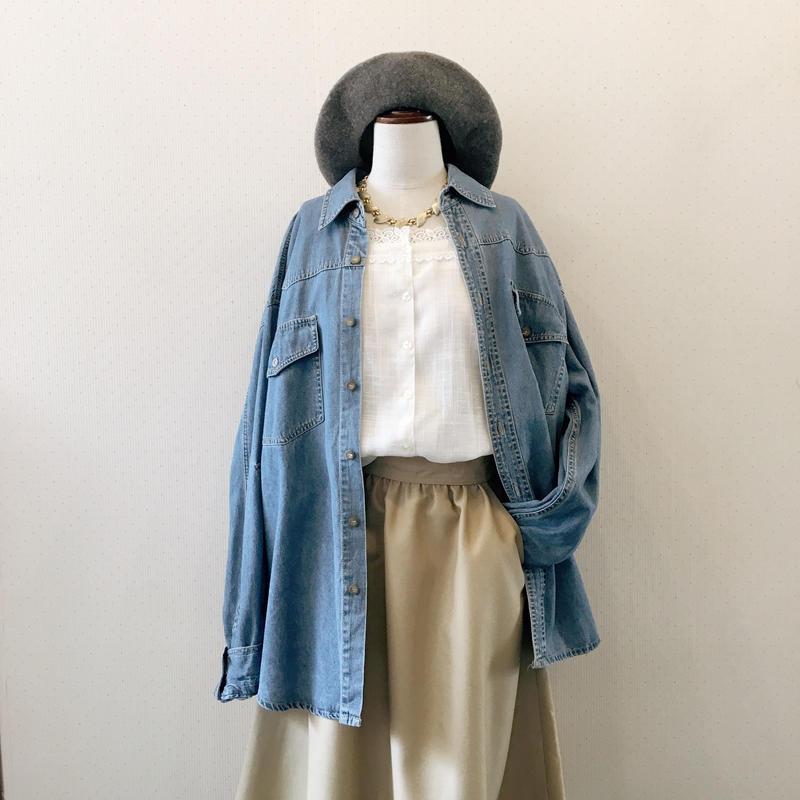 used denim blouse