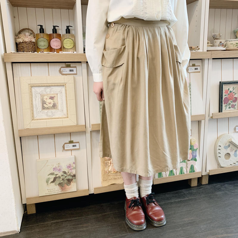 used silk skirt