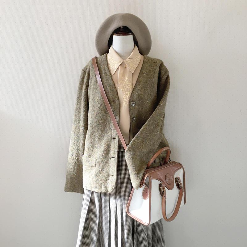 used wool cardigan