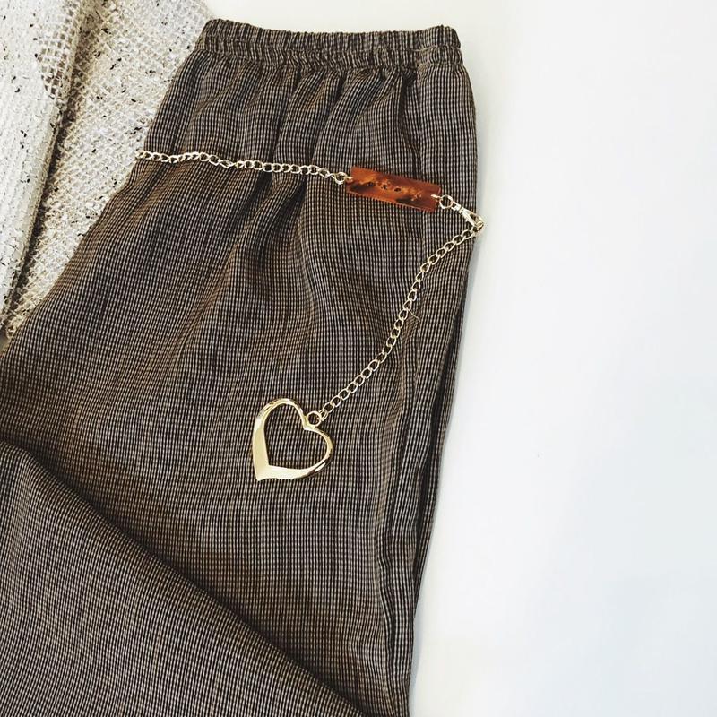 heart chain belt (gold)