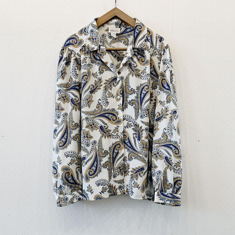 used paisly blouse