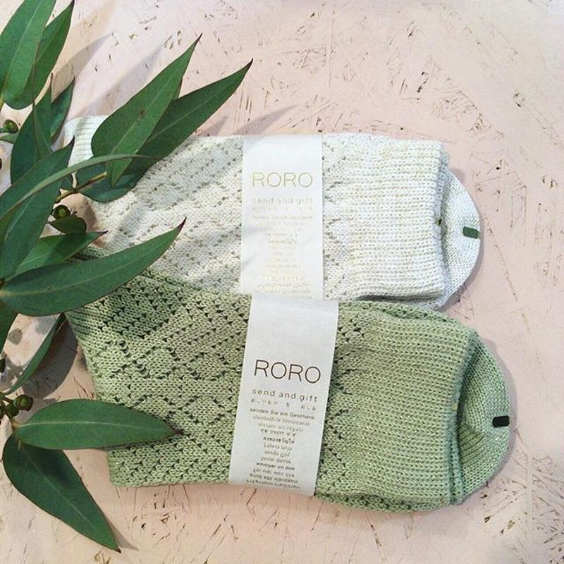 roro kigi socks (light green)