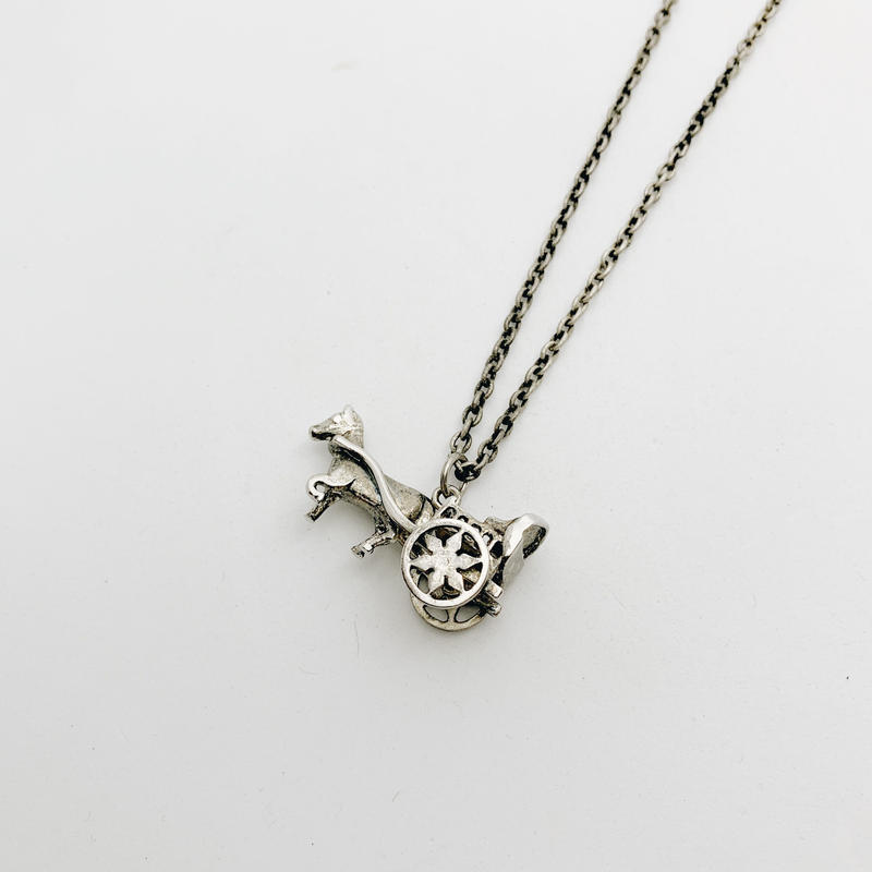 used silver necklace