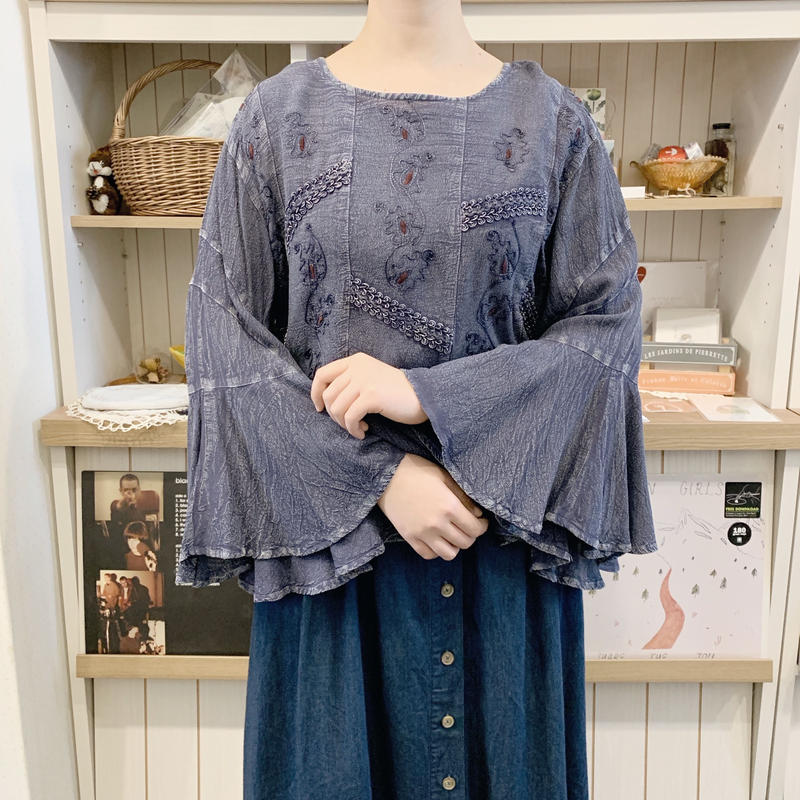 used rayon blouse