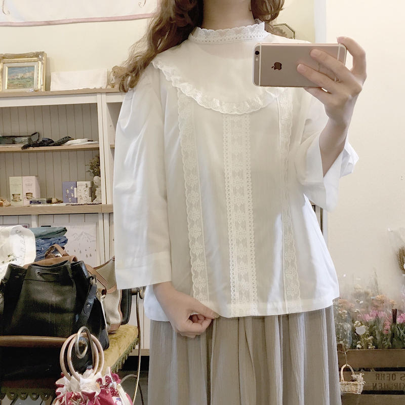 used lace blouse