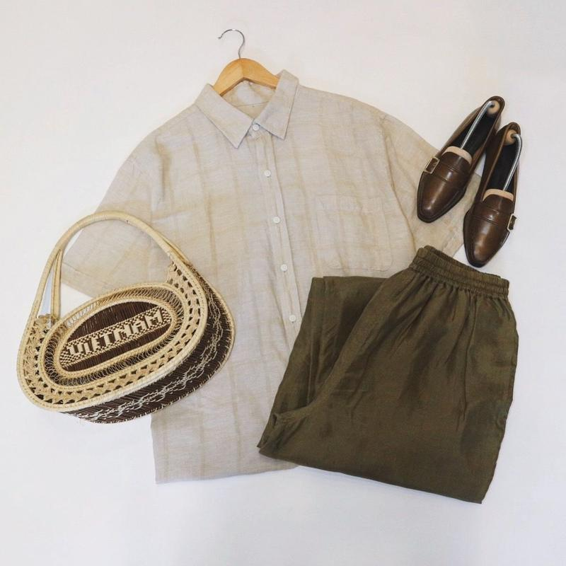 used linen shirt
