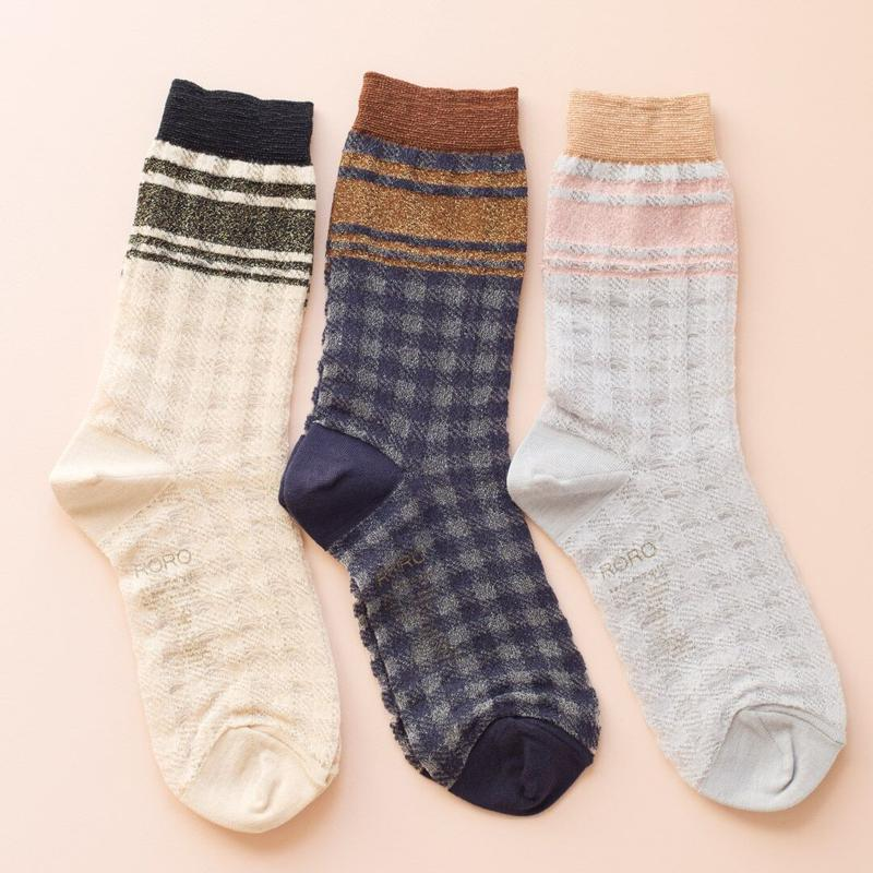 roro cloth socks(navy blue)