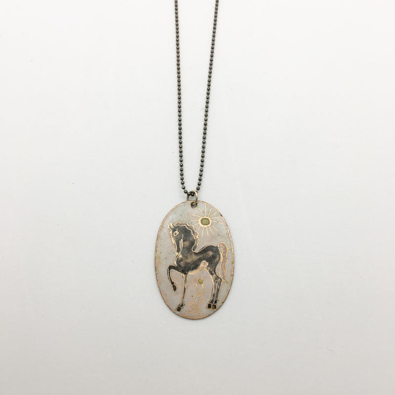 used plate necklace