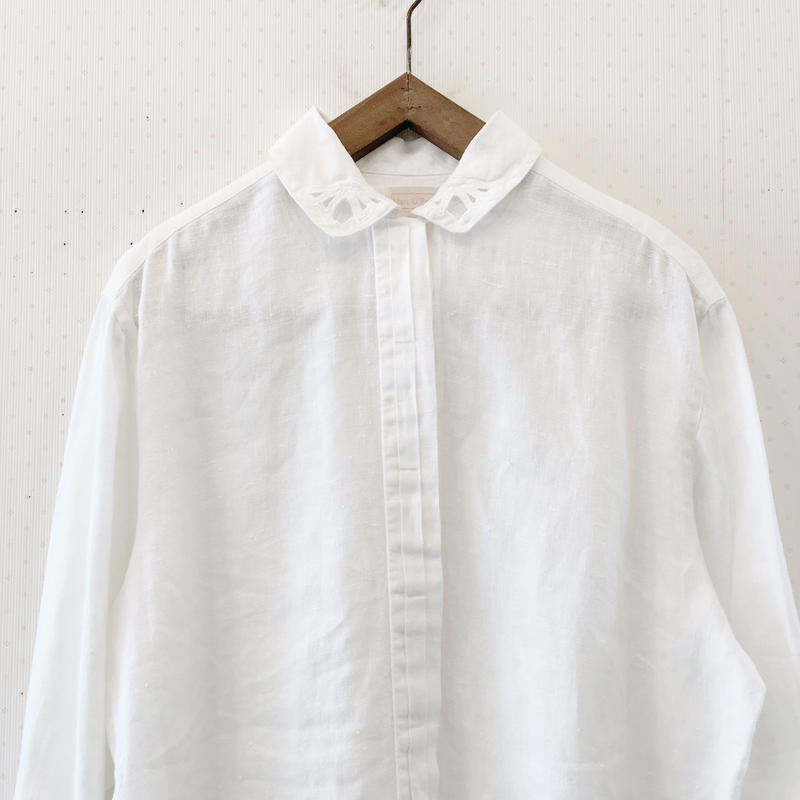 used  linen blouse