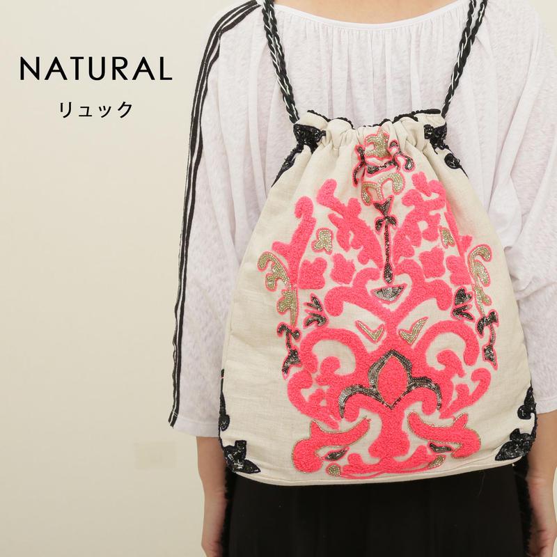 2WAYバッグ/コットンキャンバス刺繍/1518828