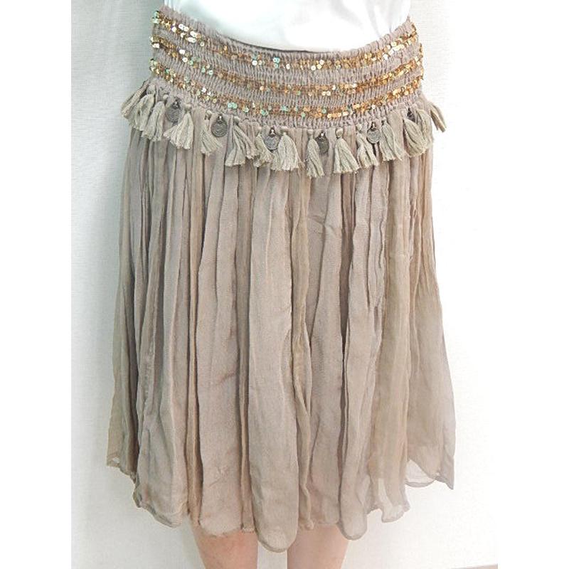 ビスコースジョーゼット&シフォン 2way スカート#1514698
