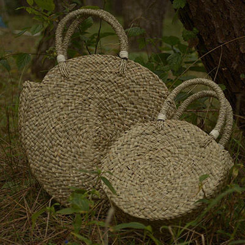 水草手編みまんまるかごバッグ#1878015 M-SIZE