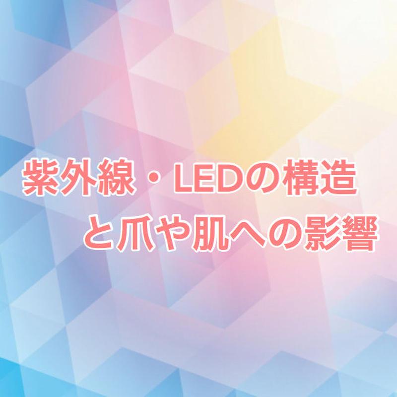 【9/26大阪、10/3仙台、10/11茨城、10/25福岡】紫外線・LEDの構造と爪や肌への影響