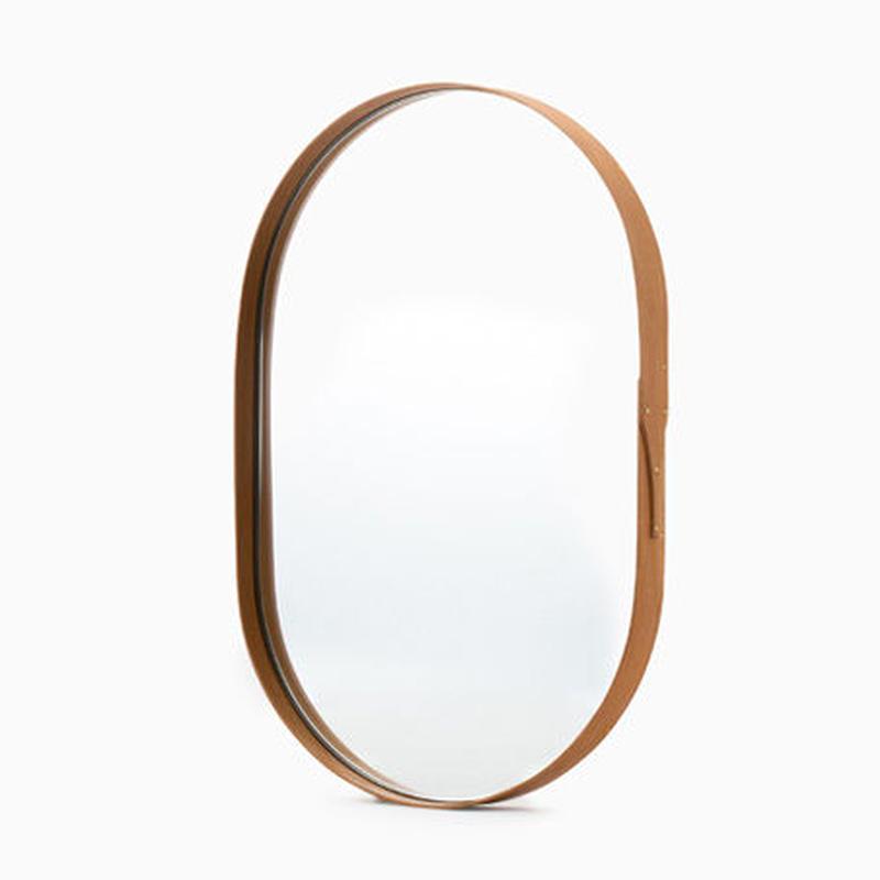 まる工芸  Oval mirror