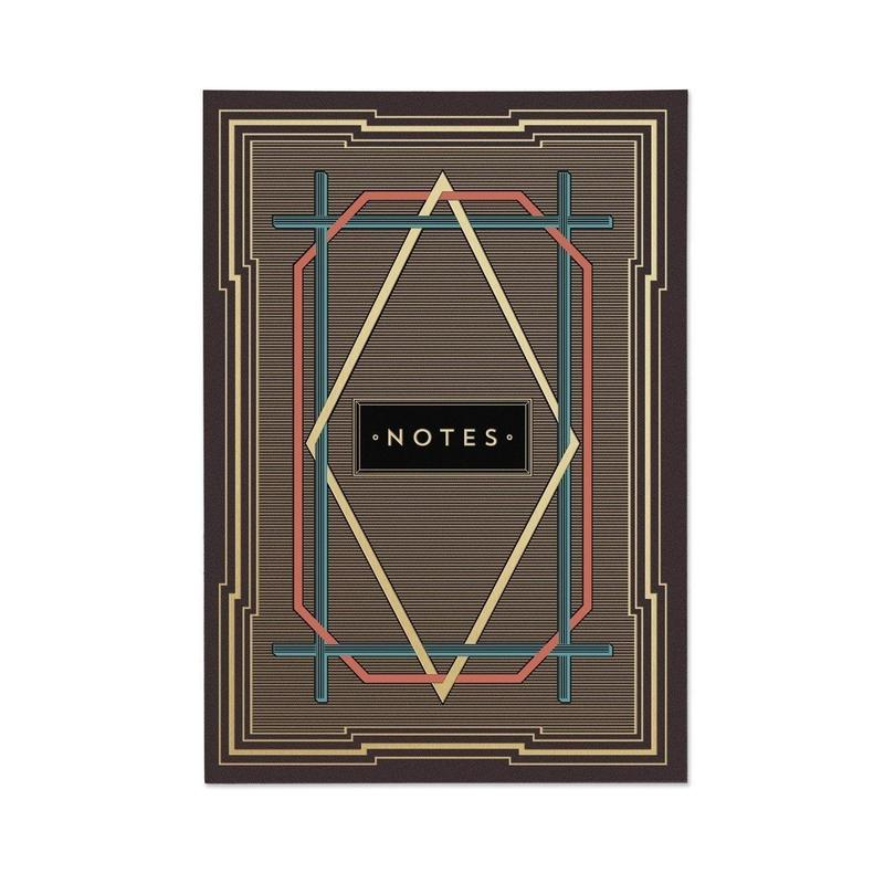 Chase & Wonder  ART DECO (STRIPES) NOTE BOOK
