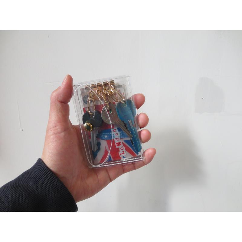 【3点以上ご購入の方】Aquvii アクビ クリア キーケース  のコピー